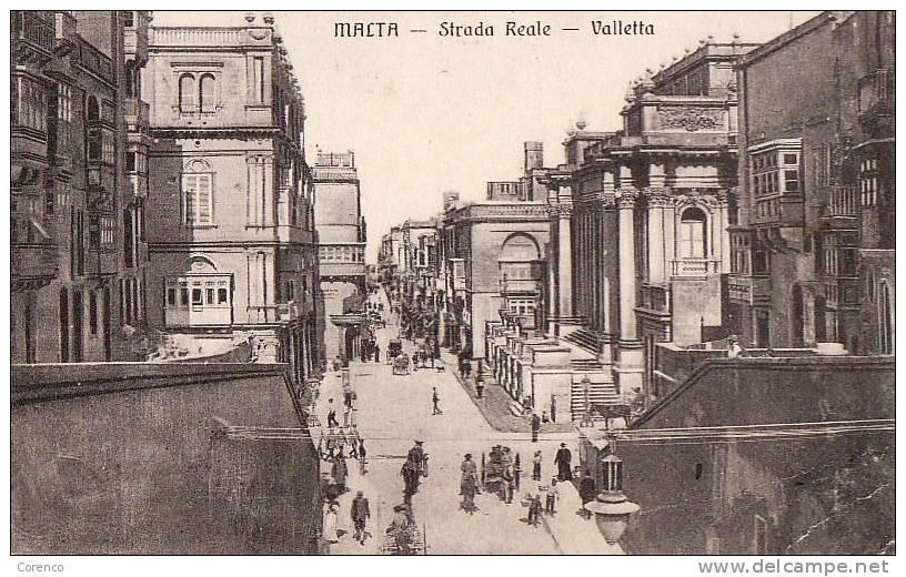 4237  MALTE   Strada Reale     Circulée 1914 - Malta