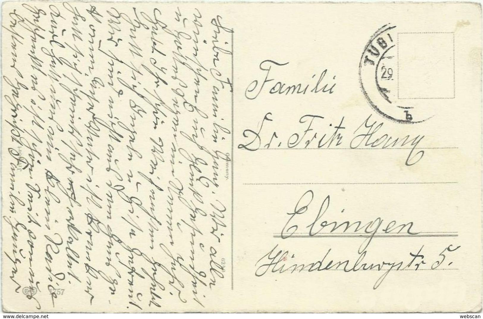 AK Neujahr New Year Fliegenpilze & Kleeblätter Golddruck ~1910 #60 - New Year