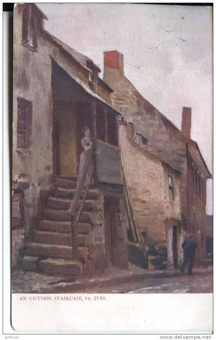 TUCKS OILETTE - SERIES 698 - ST IVES - AN OUTSIDE STAIRCASE - EMMANUEL - St.Ives
