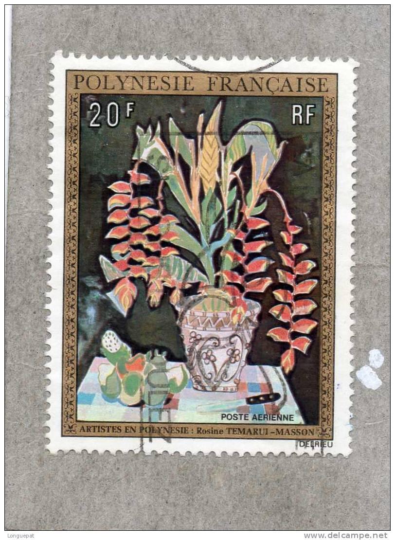 POLYNESIE Française : Artiste Peintre En Polynésie : Rosinr Temarui-Masson - Poste Aérienne