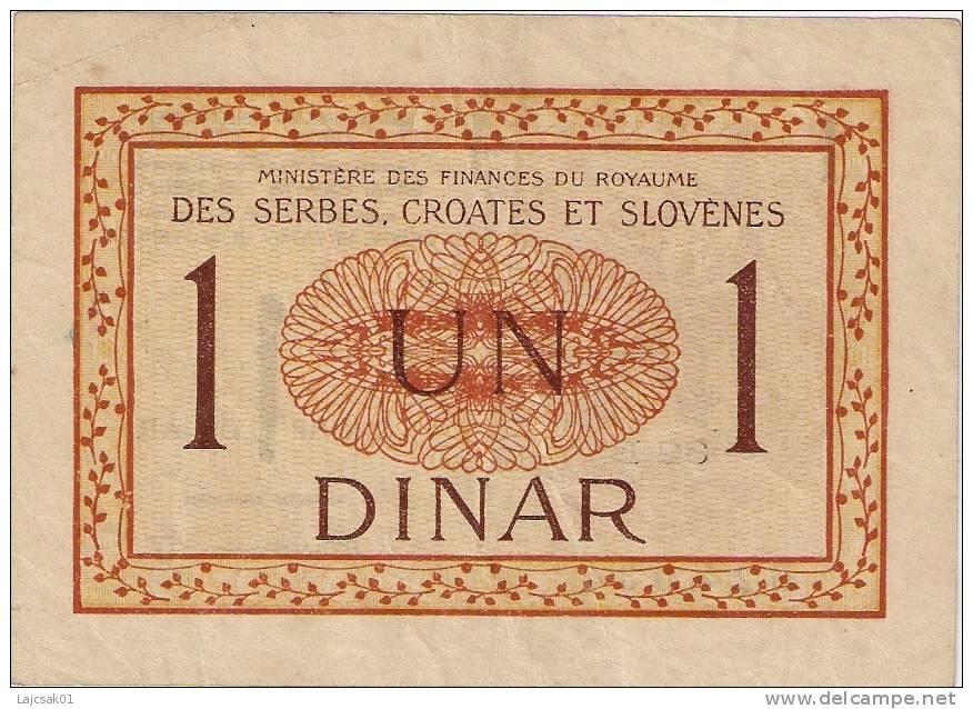 Yugoslavia 1 Dinar 1919. P-12   (82B) - Yougoslavie