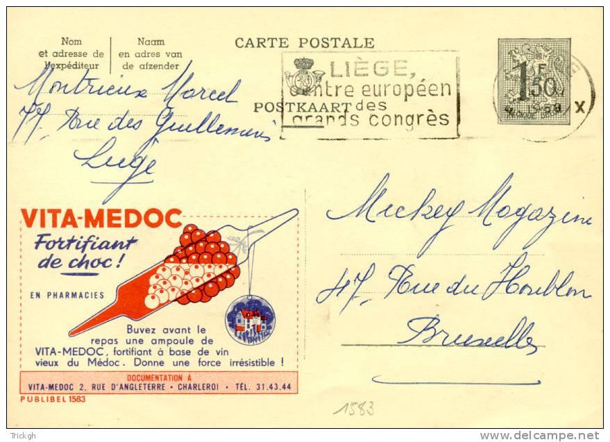 Publibel 1583 Vita-Medoc Fortifiant / LIEGE 1958 - Medicine