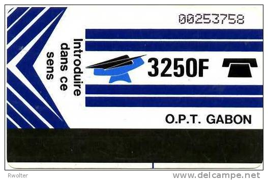 @+ Gabon - 3 250F Autelca (avec Trait Bleu Centre Bas) - Gabon