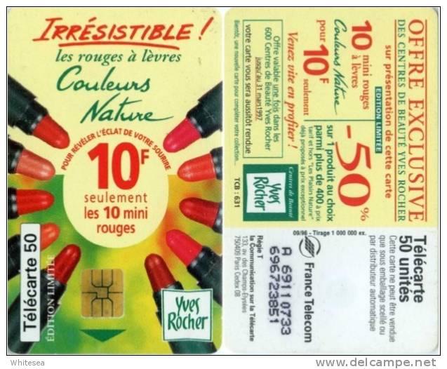 Telefonkarte Frankreich - Kosmetik - Yves Rocher - 09/96 - Frankreich
