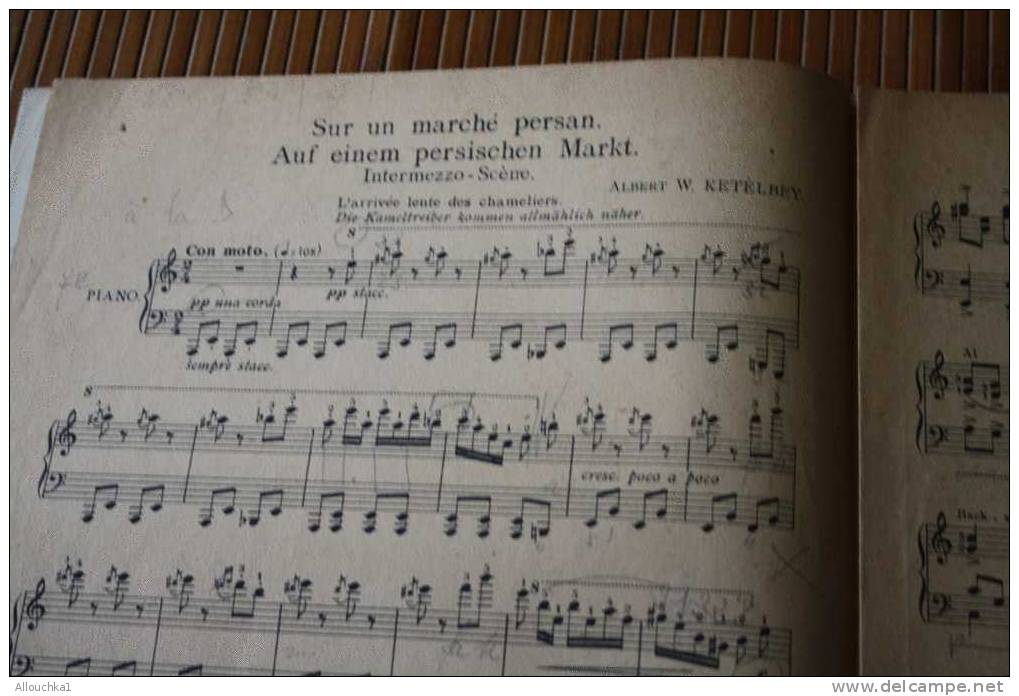 SUR UN MARché PERSAN INTERMEZZO SCENE  ALBERT W. KETELBEY  AUF EINEM PERSISCHEN MARKT MUSIQUE CLASSSIQUE PARTITION - Musik & Instrumente