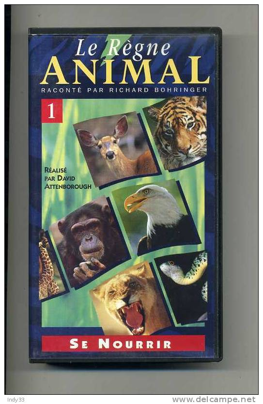 CASSETTE VIDEO LE REGNE ANIMAL N°1 . SE NOURRIR - Documentaires