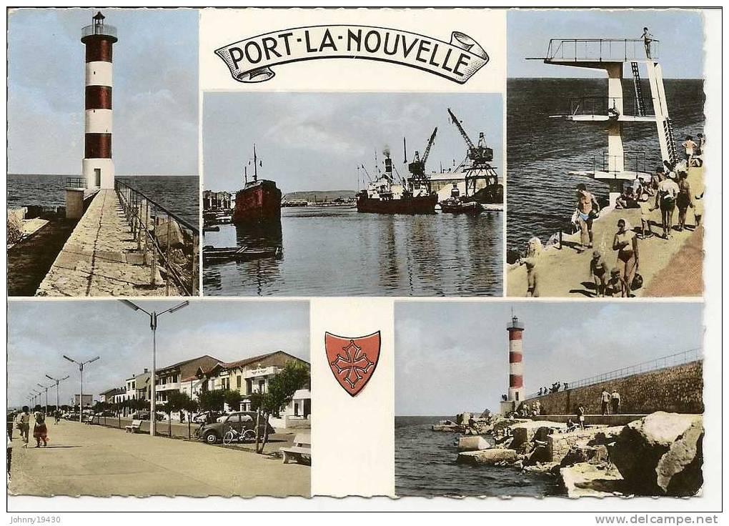 600 - PORT-LA-NOUVELLE ( 5 VUES )  LE PHARE - LE PORT - LE PLONGEOIR - LE FRONT DE MER - LA JETEE - Port La Nouvelle