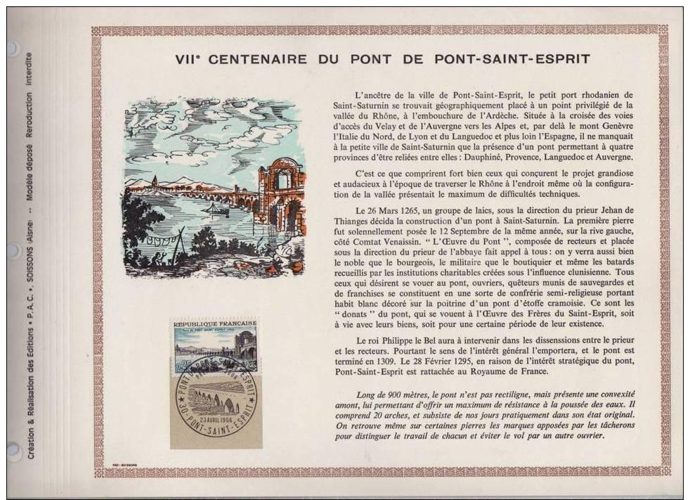 """RRR Feuillet PAC 1° Jour ( Précurseur De CEF ) """" PONT DE PONT SAINT-ESPRIT """" Avec N° 1481 + Prix Dégressif. - Ponti"""