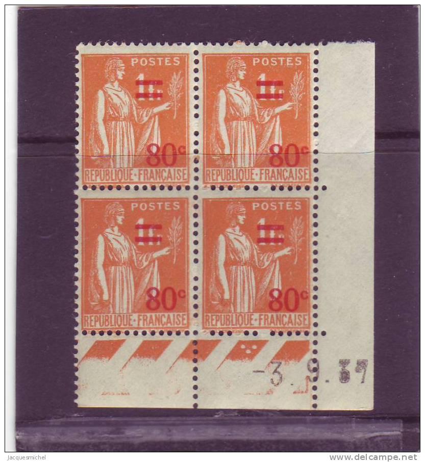N° 359 - 80c/1F PAIX/LAURENS - F De E+F 4° Tirage /2° Partie Du 31.8.37 Au 9.9.37 - 3.9.37 - - 1930-1939