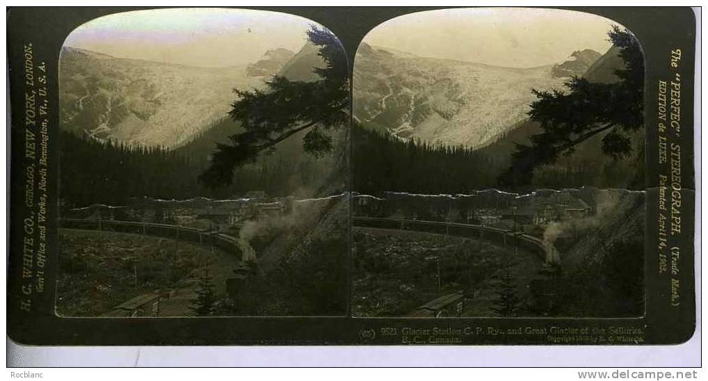 PHT2 CANADA Photo Glacier Station, Train - Photos Stéréoscopiques