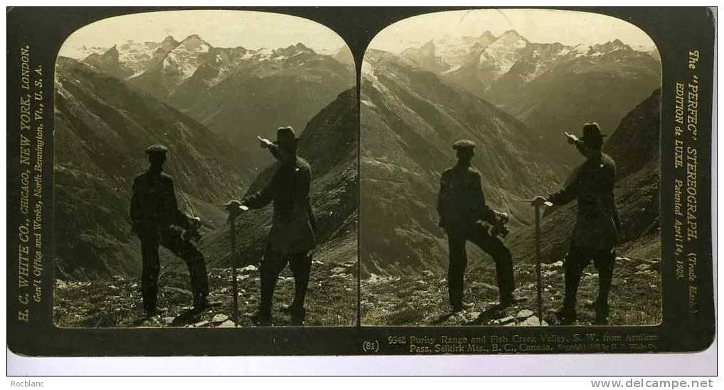 PHT2 CANADA Photo Creek Valley - Photos Stéréoscopiques
