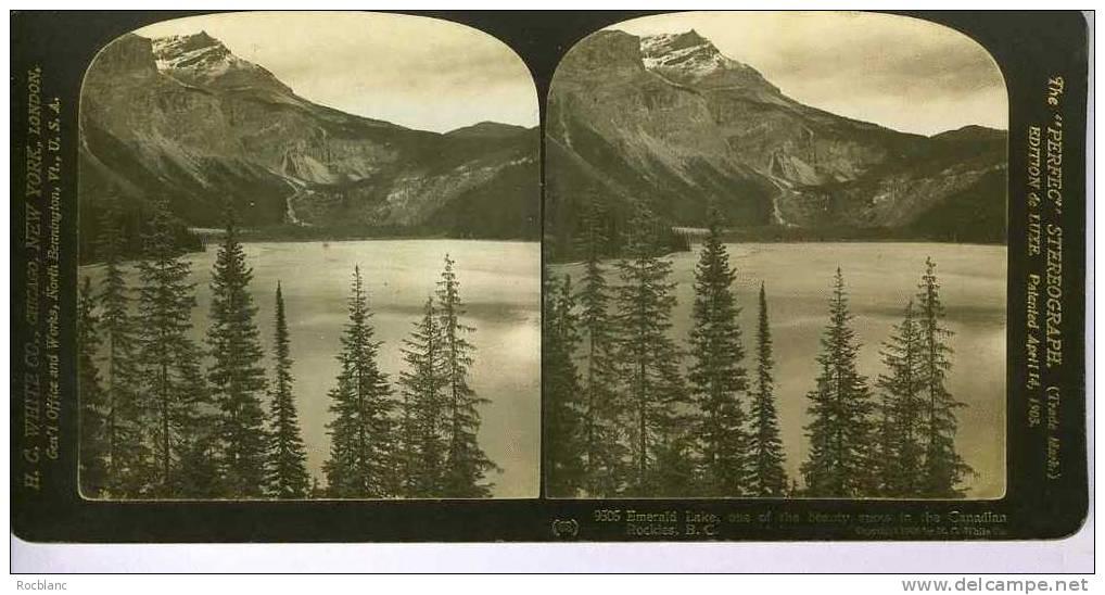 PHT2 CANADA Photo Emerald Lake Canadian Rockies - Photos Stéréoscopiques