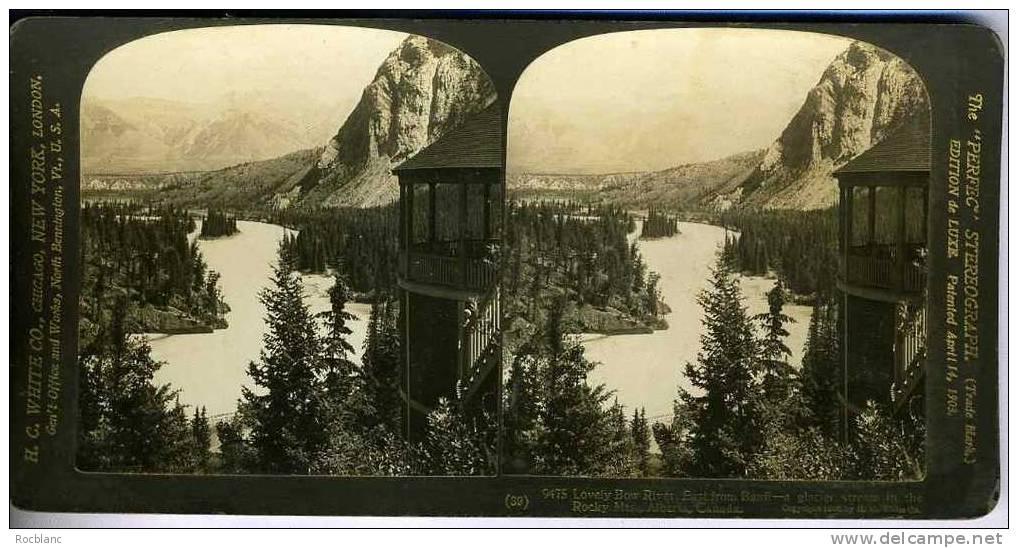 PHT2 CANADA Photo Lovely Bow River - Photos Stéréoscopiques