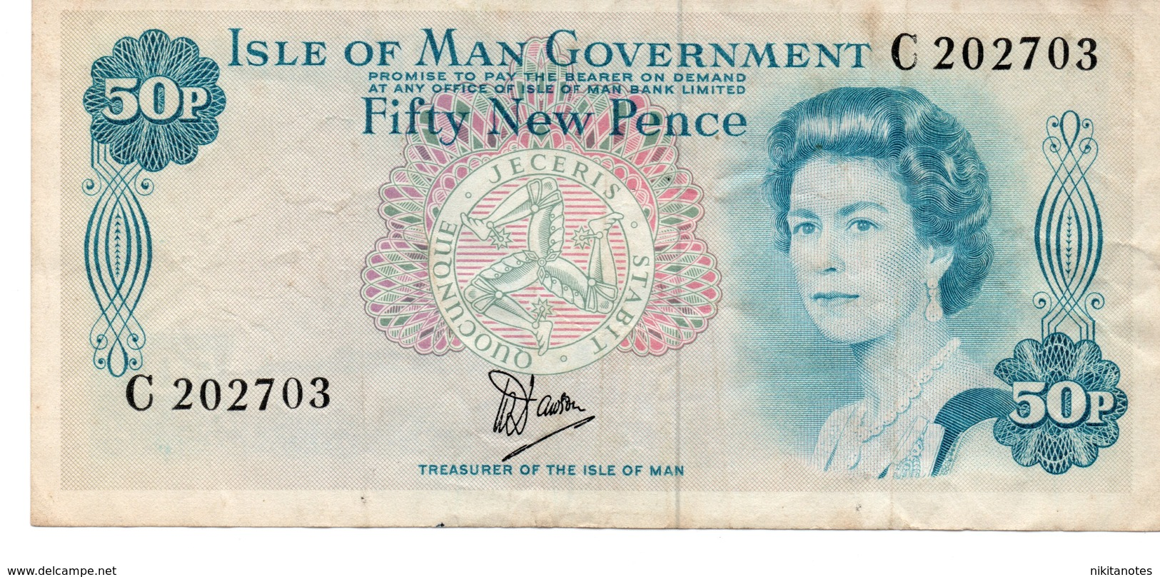 * ISLE OF MAN - 50 POUNDS 1983 UNC - P 39 - Bankbiljetten