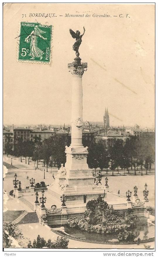 L700.1575 - Bordeaux - Monuments Des Girondins - CF N°73 - Bordeaux
