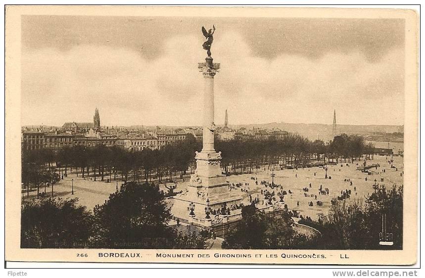 L700.1580 - Bordeaux -Monument Des Girondins Et Les Quinconces - LL N°266 - Bordeaux