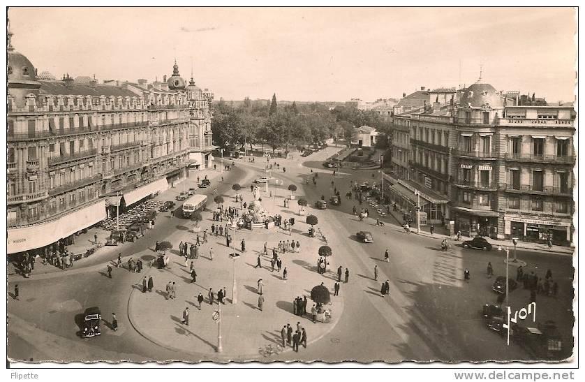 L700.1663 - Montpellier - Place De La Comédie, Au Centre L'Oeuf -  Ed. Yvon  N°B367  - Jolie Animation - Montpellier