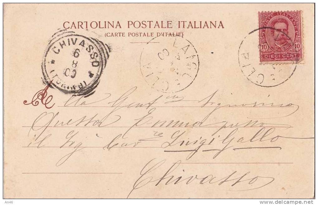 LAIGUEGLIA SAVONA LIGURIA PANORAMA VG 1903 X CHIVASSO ORIGINALE D´EPOCA 100% - Altre Città