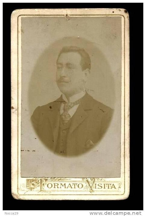 MINERVINO MURGE 1903  FOTO ORIGINALE CARTONATA CON DEDICA - Foto Dedicate