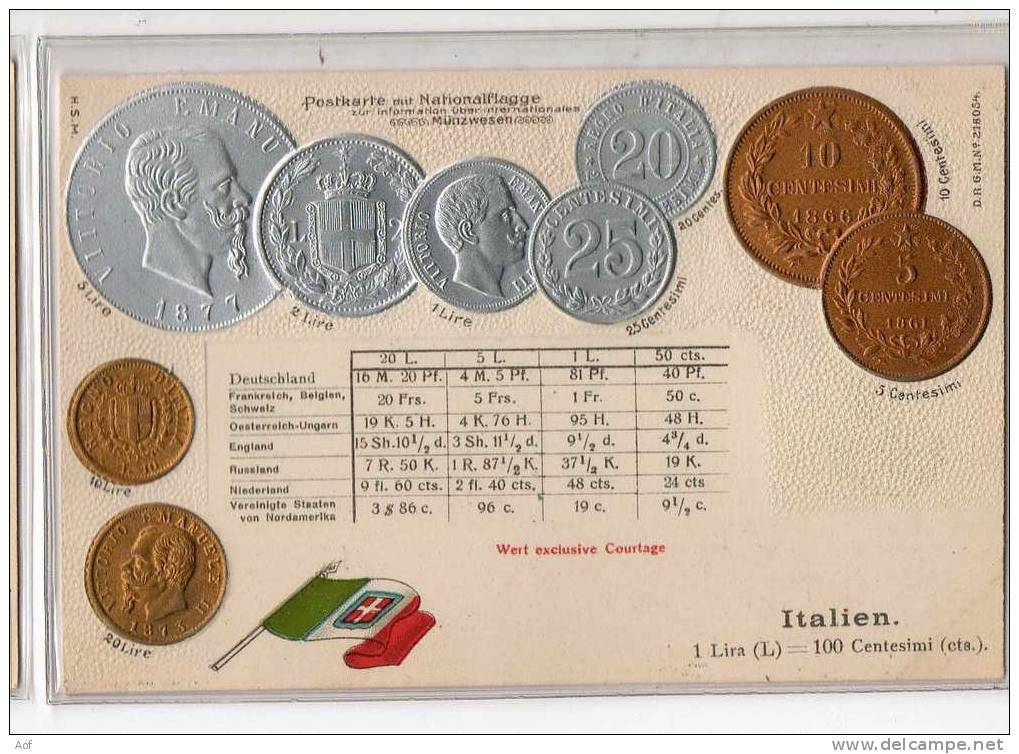 D493 ITALIE ITALIA - Monnaies (représentations)
