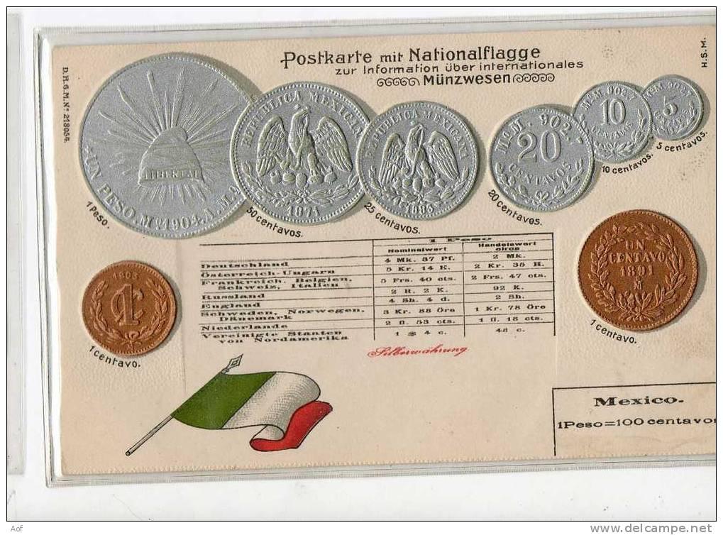 D494 MEXIQUE MEXICO - Monnaies (représentations)