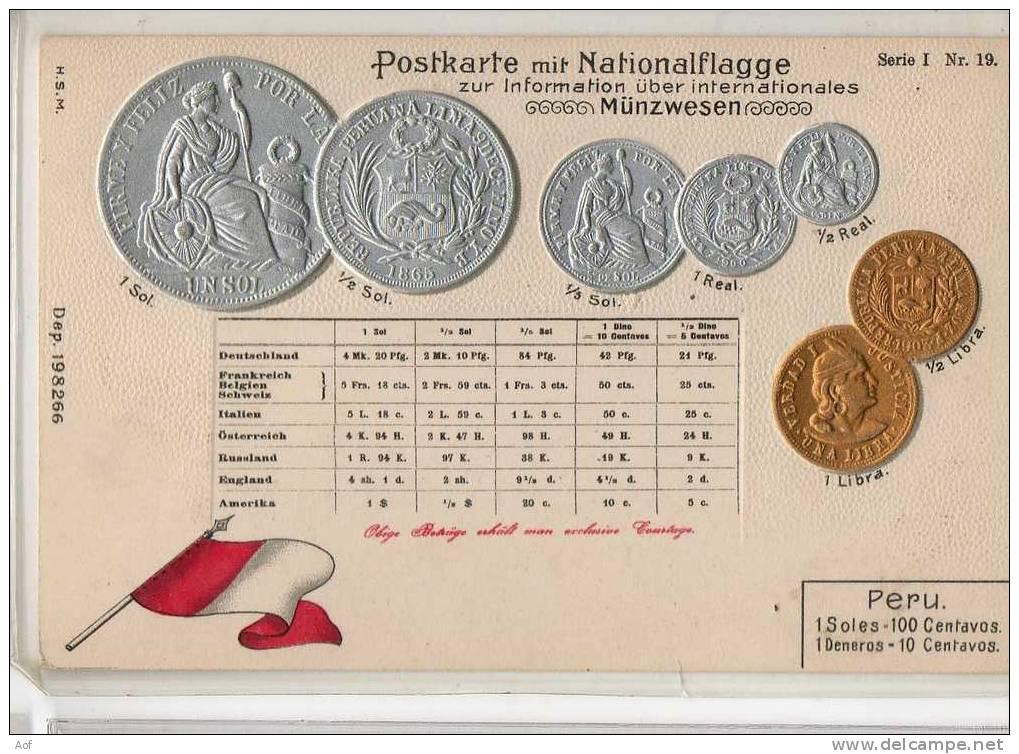 D497 PEROU PERU - Monnaies (représentations)