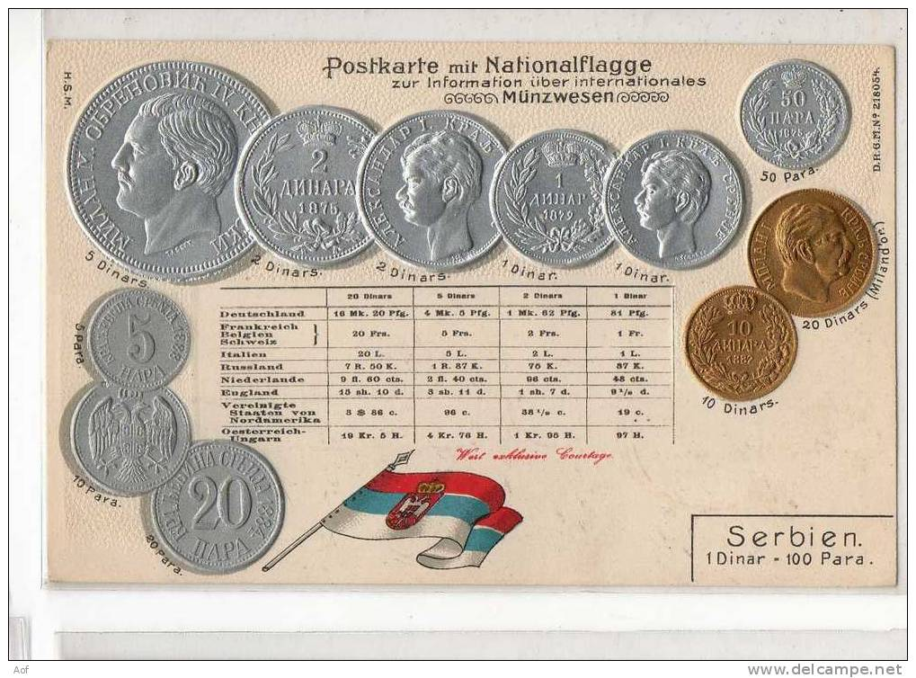 D501 SERBIE SERBIA - Monnaies (représentations)