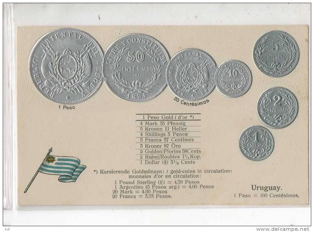 D509 URUGUAY - Monnaies (représentations)