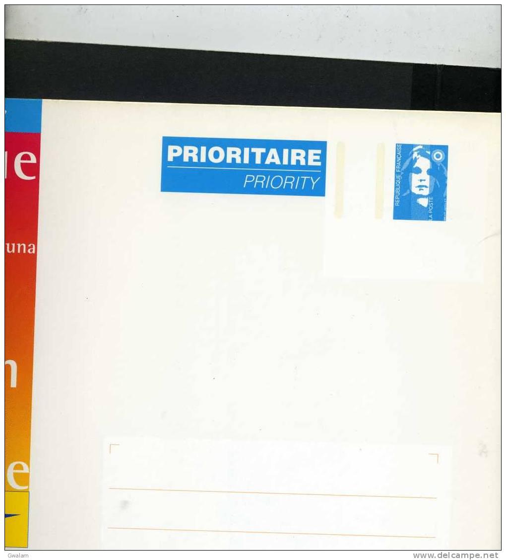 FRANCE 1 Entier Postal Enveloppe N°YT 2806-E10 1997 Marianne De Briat Bleu DOMTOM Enveloppe Cartonnée 328*248 Pour 500 G - Enteros Postales