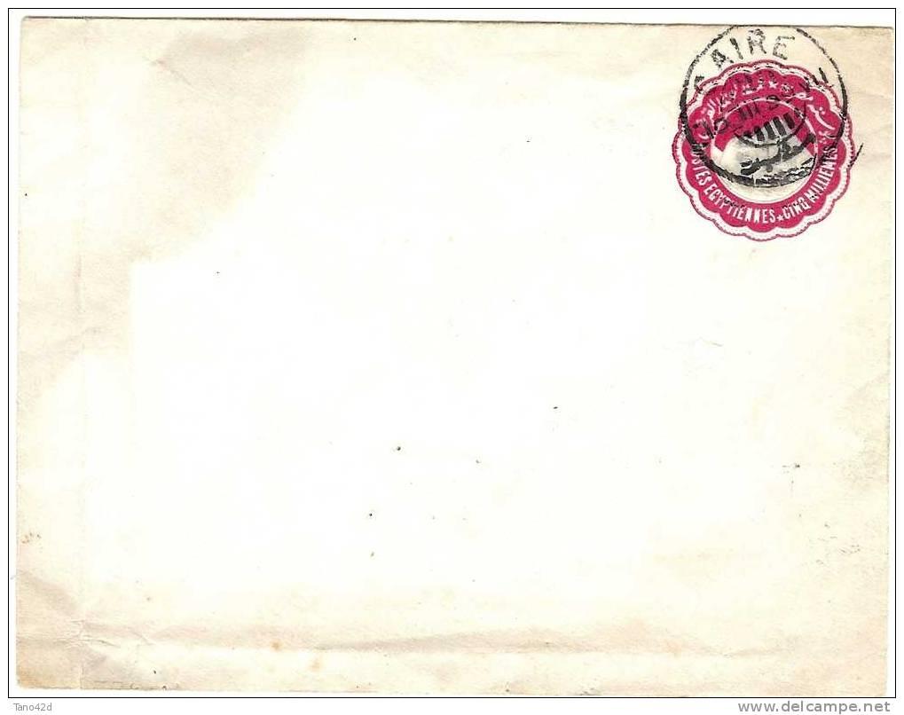 REF LCE2 - EGYPTE - ENTIER PSTAL ENVELOPPE 5mm OBLITEREE  DU CAIRE 10/3/1899 - Égypte
