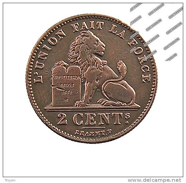 Belgique - 2 Centimes - 1912 - Cuivre - TTB - 02. 2 Centimes