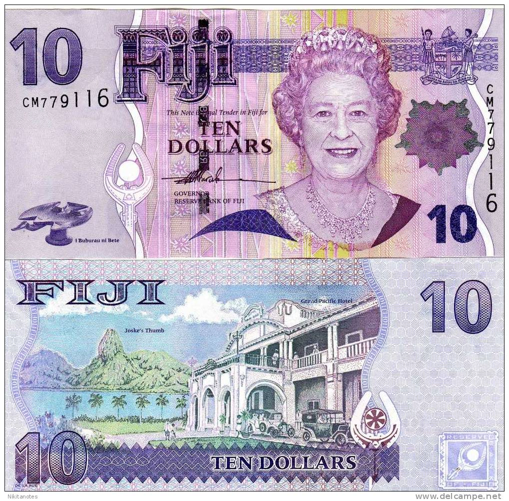 FIJI 10 DOLLARS 2007 P-111 UNC  QEII - Figi