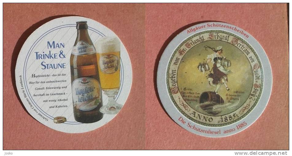 HOPFENLEICHT Beer Coaster ( Germany ) Beercoaster Bière Bier Cerveza Birra Cerveja Mat Mats Sous-bock Posavasos Coasters - Beer Mats