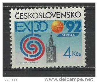 CZECHOSLOVAKIA 1992 - WORLD EXPO SEVILLA  - MNH MINT NEUF NUEVO - Czechoslovakia
