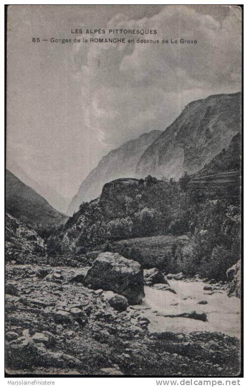 Dép. 38 - LES ALPES PITTORESQUES - Gorges De La Romanche En Dessous De La Grave. N°85 - Unclassified