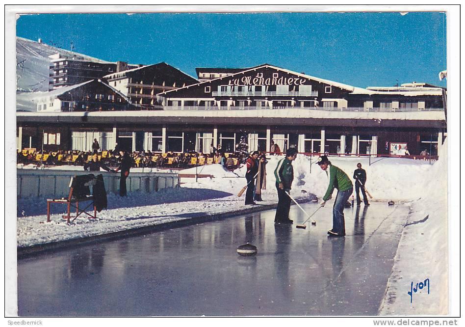 17101 L' Alpe D'huez , Station Soleil, Curling, Signal . 10.14544 Yvon.  CURLING ; La Menandiere - Sports D'hiver