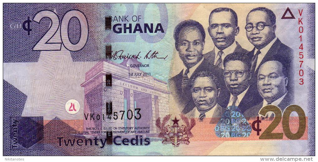 GHANA BANKNOTE 20 CEDIS 2010 GHANA  P40b - Ghana