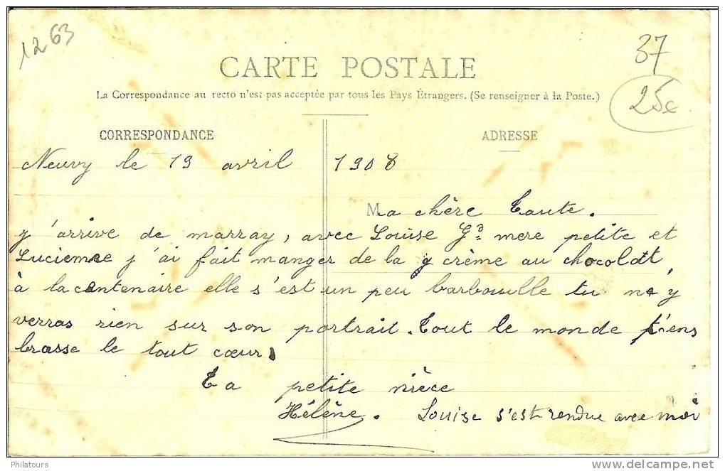 La Centenaire De MARRAY : Pétronille BESNARD, Née à Marray En 1808 - France
