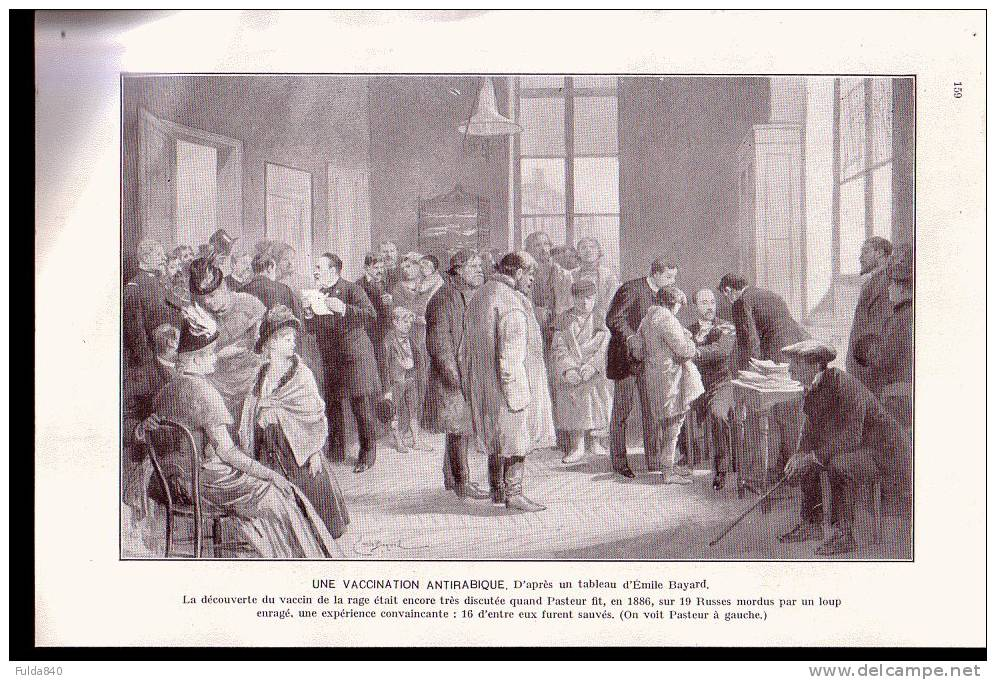 UNE VACCINATION ANTIRABIQUE.  (Pateur 1886)            (Photo  Sur Papier Glacé) - Reproductions