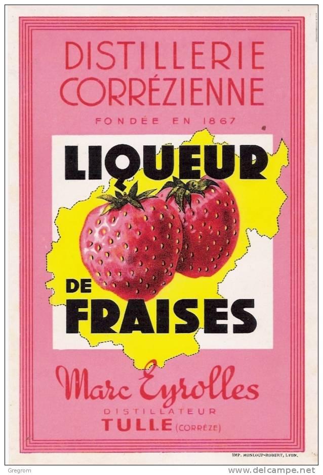 étiquette Distillerie Corrézienne , Marc EYROLLES , TULLE - Labels