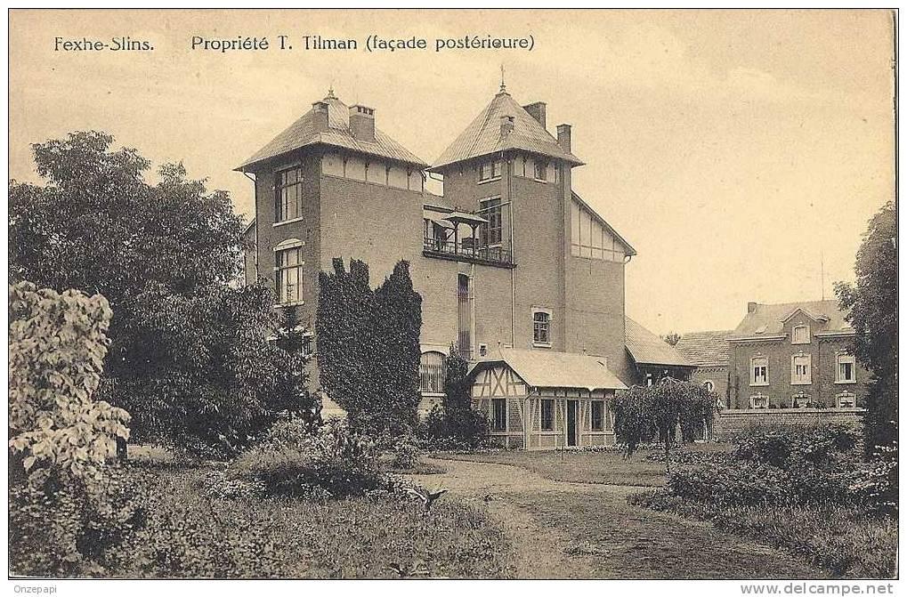 FEXHE-SLINS - Villa Propriété T. Tilman (façade Postérieure) - Juprelle