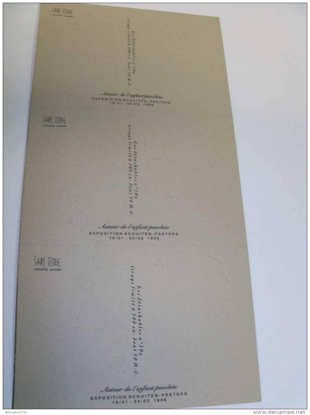SCHUITEN-PEETERS. Rare Série De 6 Cartes Postales Sérigraphiées. Expo Autour De L'enfant Penchée Lib. SANS TITRE 1996 TL - Cartes Postales