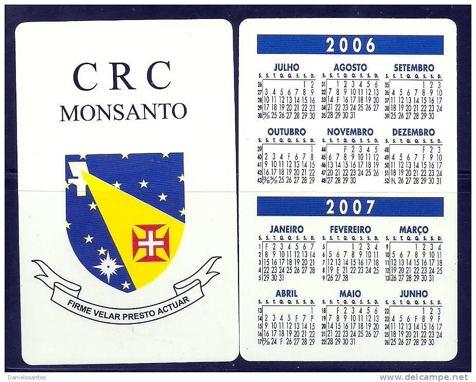 2006 Pocket Poche Bolsillo Calender Calandrier Calendario  Portugal FAP Air  CRC Monsanto - Small : 2001-...