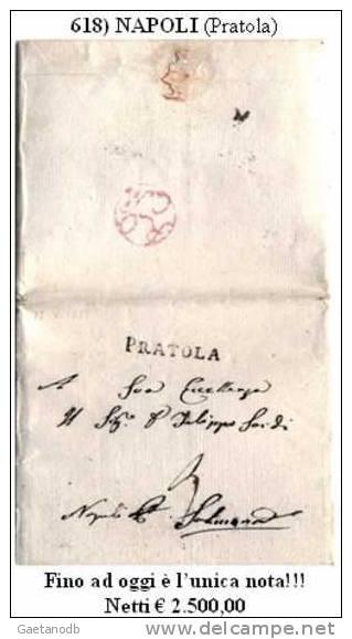 Pratola 00618 - Rarissimo Documento Postale, Del 12 Maggio 1811. Fino Ad Oggi UNICO!!! - Italia