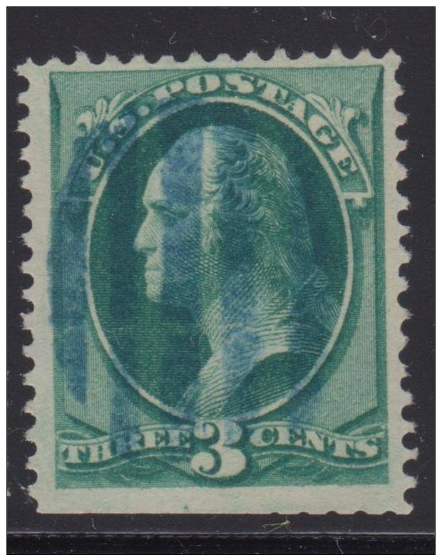 1870-88 3¢ BANKNOTE FANCY CANCEL 600 DPI IMAGE °  FREE  SHIPPING - 1847-99 General Issues