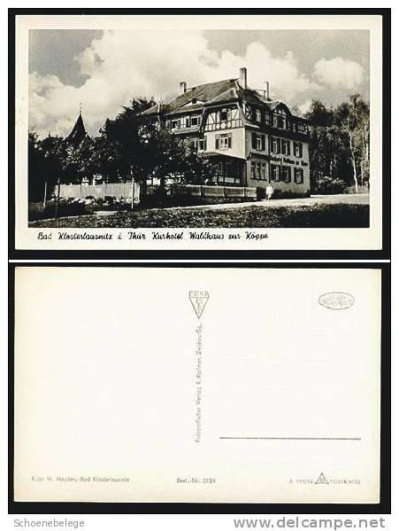 A261) Bad Klosterlausnitz Kurhotel Um 1957 Karte S/w - Bad Klosterlausnitz