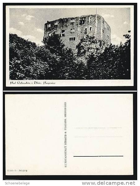 A262) Bad Liebenstein Burgruine S/w Ansichtskarte - Bad Liebenstein