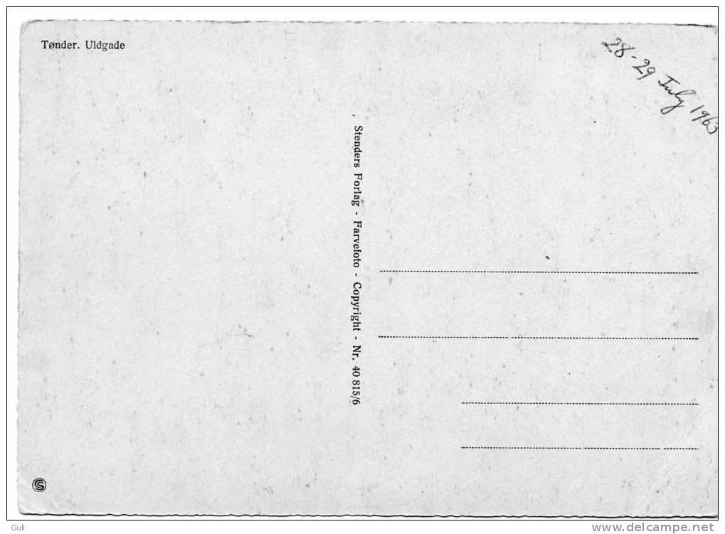 Europe >  Danemark- TONDER Ulgade  (animation Auto Voiture Danmark)- Editions: Stenders N° 40815/6 *PRIX FIXE - Danemark
