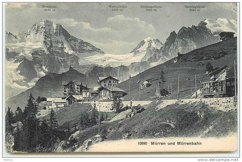 MÜRREN UND MÜRRENBAHN    -    La Gare. - ZH Zurich