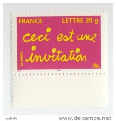 """3760** - Timbres De Messages- """"Ceci Est Une Invitation"""" (2005) - Frankreich"""